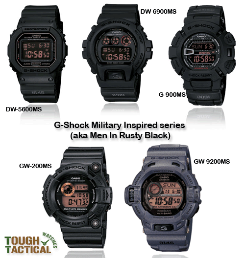 look tacticool with the best gshock watches for military