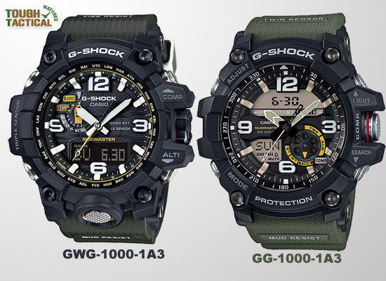 The New G Shock GG 1000 Mudmaster Powered Up With Twin Sensor