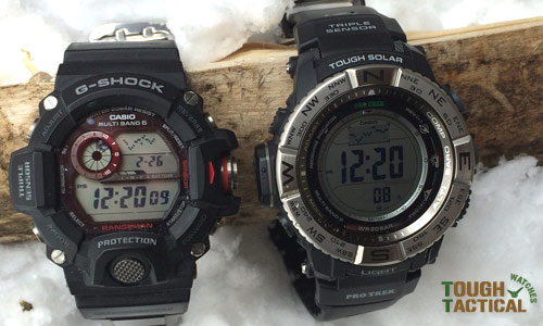 Prw-3500 and the G-Shock Rangeman