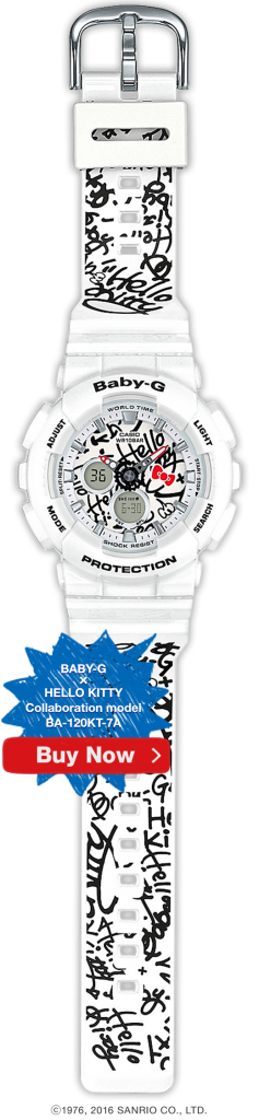 Hello Kitty X Baby-G BA-120KT-7A Collaboration Watch