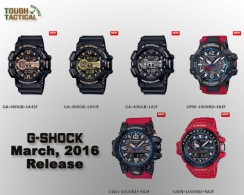 Sneak Peak View New G-Shock Series Release March 2016